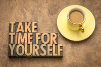 take time for yourself advice