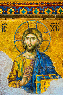 Jesus Christ - ancient mosaic