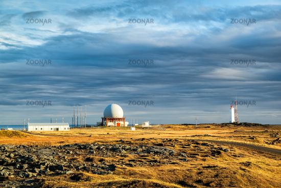 Radar station in Vestrahorn, Iceland
