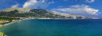 Baska Beach Panorama