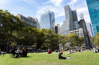 People in Bryant Park, New York City