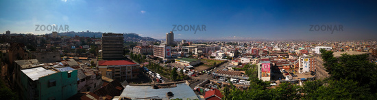 Aerial panoramic view to Antananarivo, capital of Madagascar