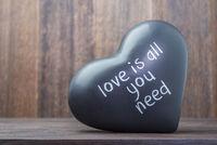 ceramic black heart