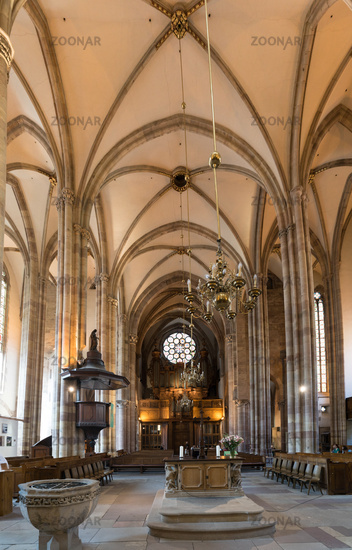 interior view of the Saint Thomas' Church in Strasbourg