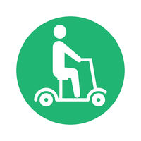 electric scooter pictogram round