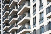 apartment building facade - real estate concept
