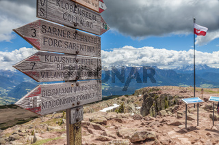 signpost at the Rittnerhorn