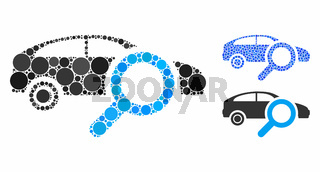 Search Car Composition Icon of Circles