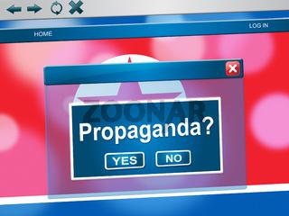 Propaganda From North Korean Dictator 3d Illustration