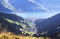 Top view of village Zell am See in Austria