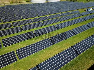 Solarpark, Luftbild