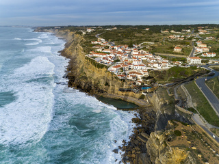 Coastal town Azenhas do Mar in Portugal