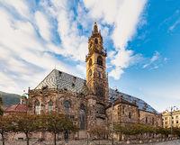 Bolzano cathedral, Santa Maria Assunta. South Tyrol, Italy, Europe