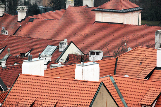 Roofs in Prague