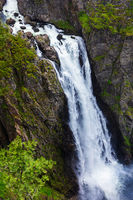 Beautiful waterfall in the mountains.