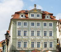 Historic house facade in Prague