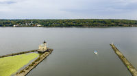 Rondout Lighthouse Hudson River Nautical Marine Scene Kingston New York