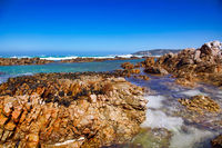 Near Cape Agulhas in South Africa, the most southern point in Africa