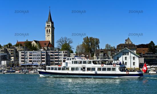 Excursion ship Säntis in the Romanshorn harbour,Romanshorn, Switzerland