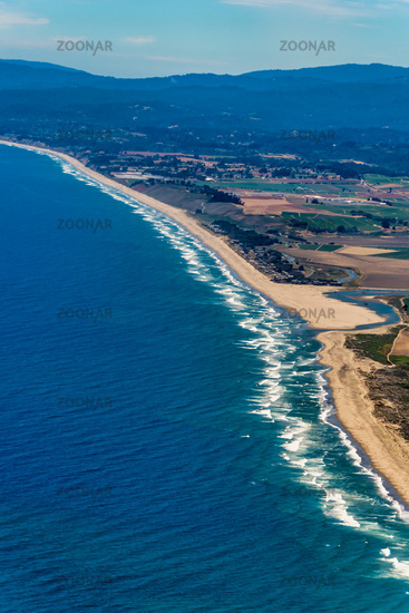 Northern California Coast Aerial View