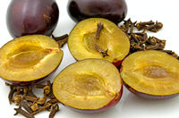 plums and  cloves