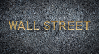 Engraved Wall Street Sign