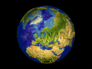 Europe on Earth from space