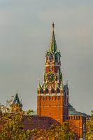 Spasskaya (Savior) tower of Moscow Kremlin