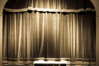 Theatre curtain on stage