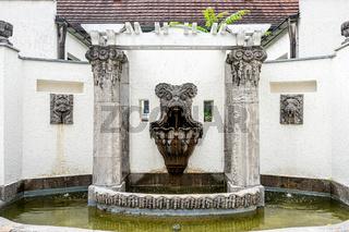 Schmuckhof im Badehaus 5 im Jugendstil Ensemle Sprudelhof