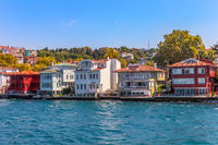 Houses by the Bosphorus, Kuzguncuk district in Istanbul, Turkey