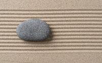 Empty Stone in a zen garden