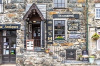 Beddgelert / Wales - May 03 2018 : Many houses in Beddgelert are historic traditional stone cottages