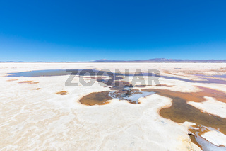 Bolivia Collecting pools of water in the Salar of Uyuni