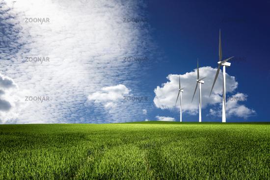 Windmills power plant