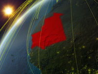 Mauritania on Earth with network