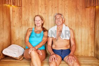 Entspannung in der Sauna im Spa
