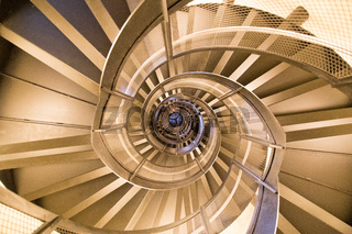 Sprial Staircase inside Town Tower in Innsbruck