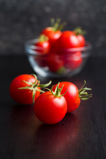 The red tomatoes.