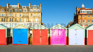 Colorful Brighton beach huts