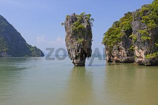 markante Felsformation auf Khao Phing Kan Island, auch James Bon