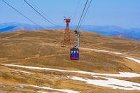 Telecabine in Bucegi mountains