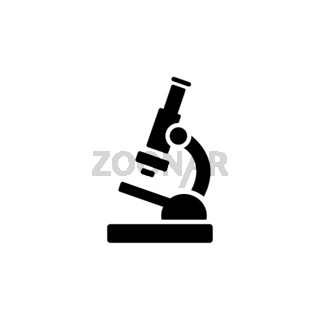 Microscope. Flat icon. Pharmacy and science vector illustration