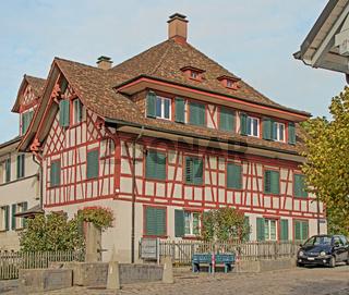 Fachwerkhaus in Flurlingen am Hochrhein, Schweiz