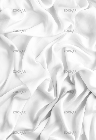 Luxury white soft silk flatlay background texture, holiday beauty abstract backdrop