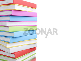 3d Colorful stack of books.