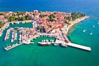 Novigrad Istarski historic Adriatic coastal town aerial view