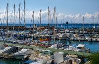 pleasure boats in the harbor