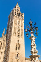 The Giralda Bell Tower, Seville, Andalusia, Spain, Europe