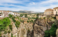 View on the old town of Ronda, Spain